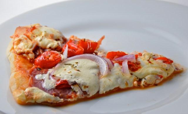 Salami And Peppadew Pizza