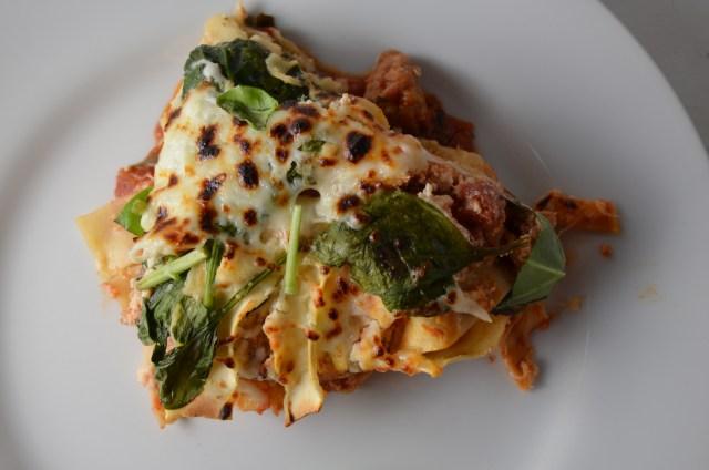 Skillet Spinach Lasagna