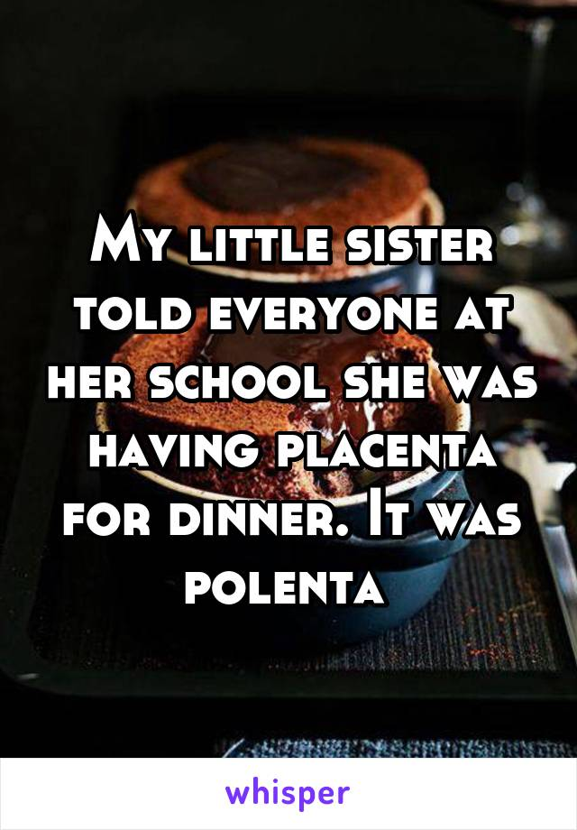 polenta-placenta
