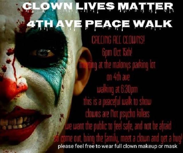 """""""Clown Lives Matter"""" March Canceled After Receiving Threats"""