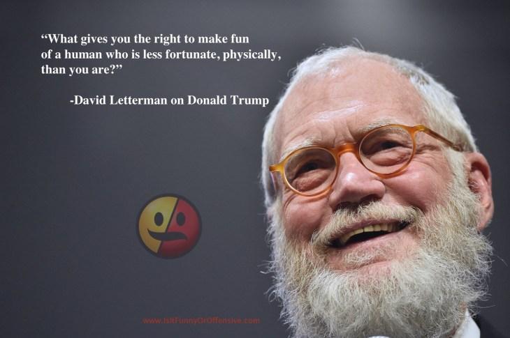 David Letterman on Donald Trump