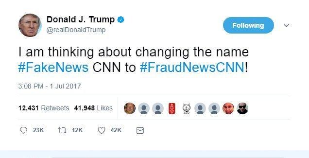 President Trump Tweets Video Of Himself Beating Up CNN WWE Style