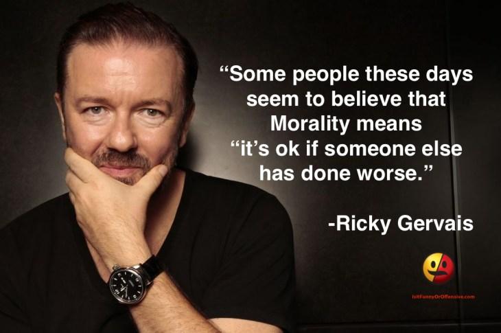 Ricky Gervais on Morality
