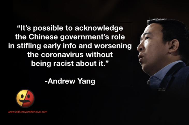 Andrew Yang Coronavirus Racism