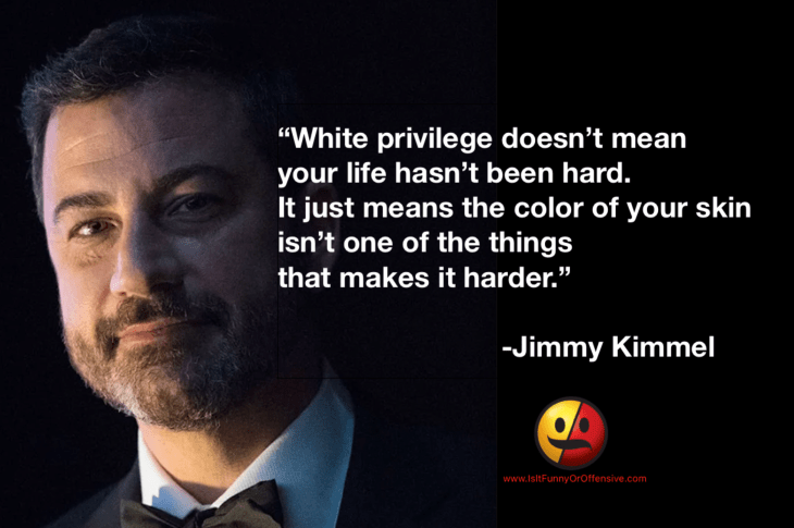 Jimmy Kimmel on White Privilege