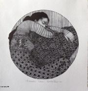 Fantasia calcografia diametro 25cm