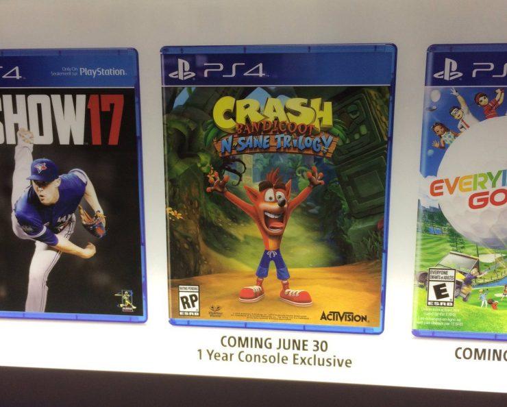 Crash Bandicoot N. Sane Trilogy lanzamiento exclusivo