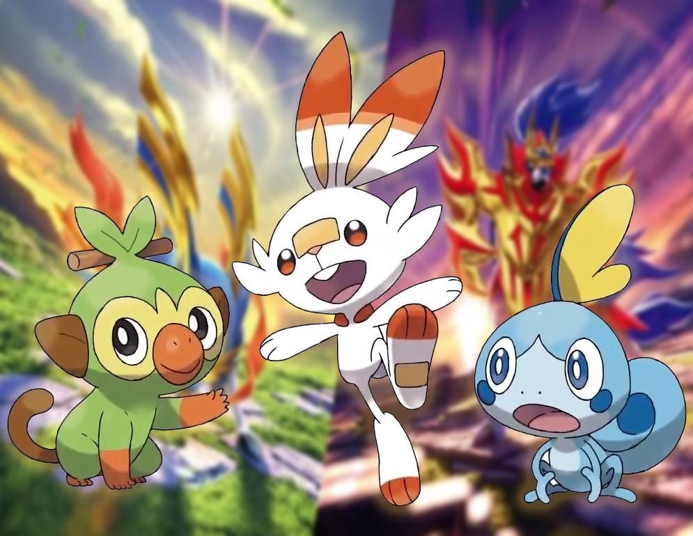 Pokémon iniciales de la octava generación
