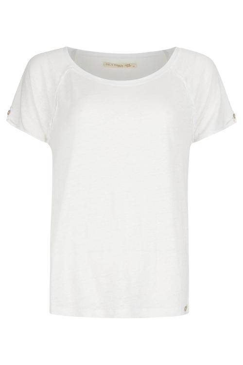 Basic Linen Top - White