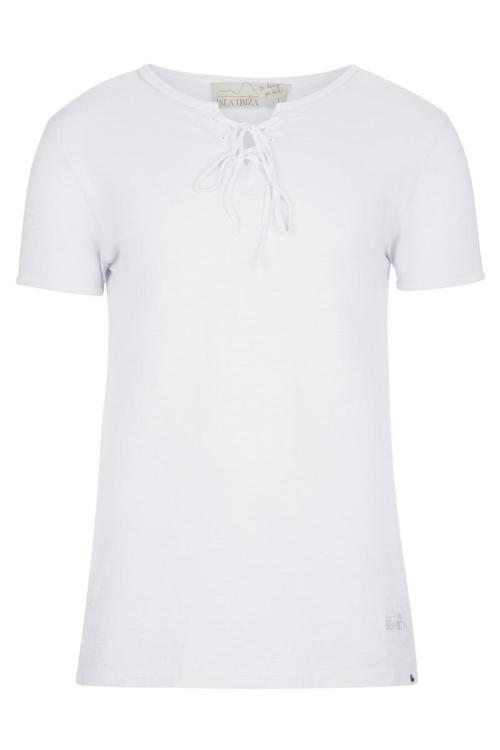 Basic Bowknot Men's T-Shirt - White