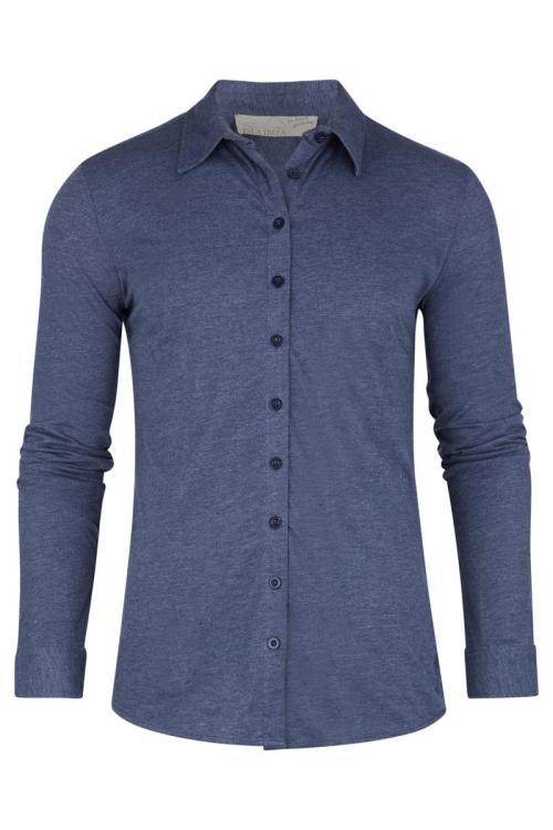 Comfortable Men's Shirt Melange – Blue