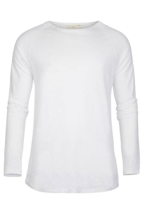 Basic Long Sleeve T'Shirt Eivissa – White