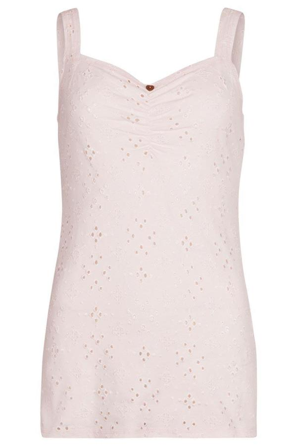Embroidery Singlet Romantic – Pink