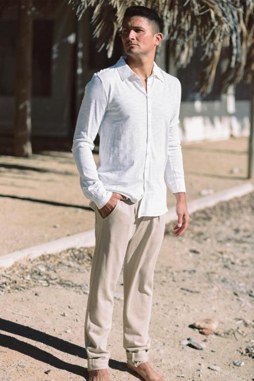 Long Chino Pants Jordi - Brown