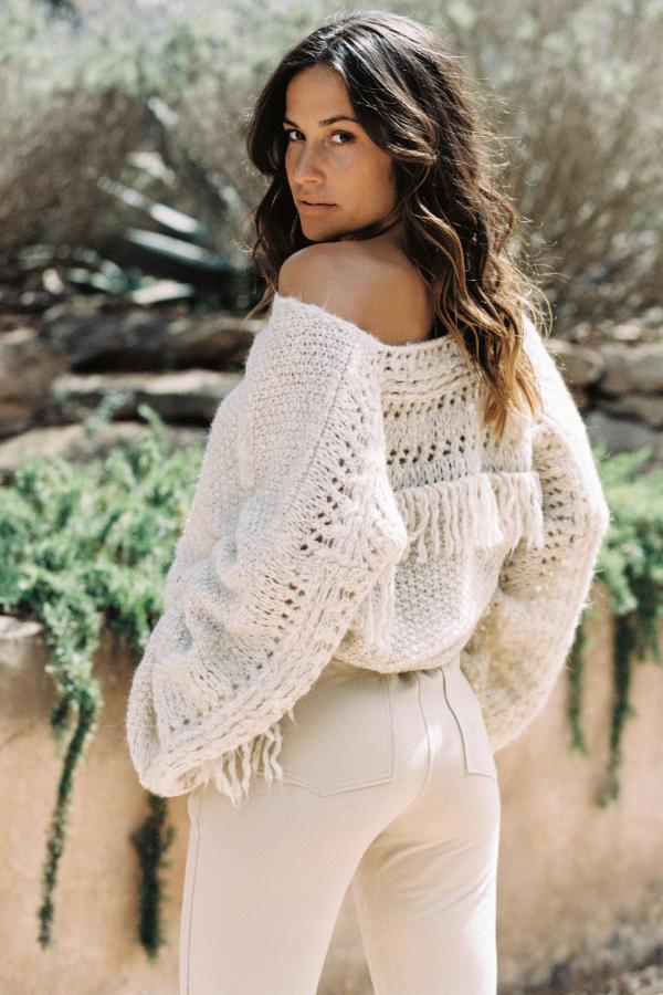 Oversized Knitted Jumper Bella - Cream