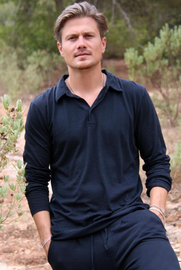 Long Sleeve Polo Shirt Botafoc – Black