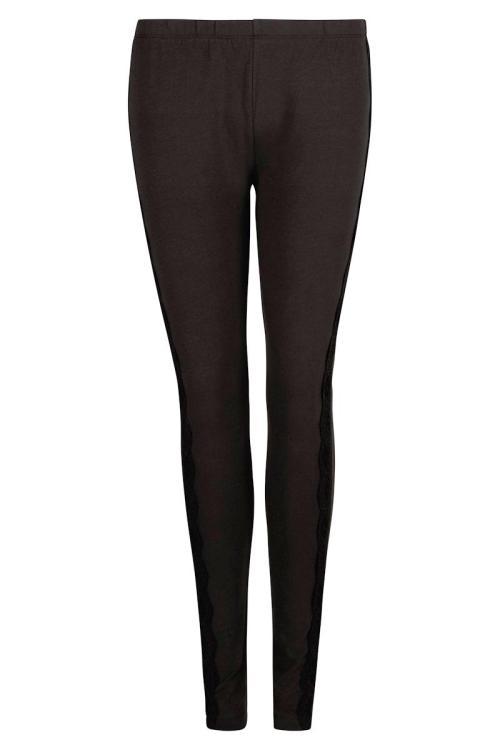 Basic Legging Embroidered Band – Black