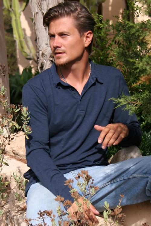 Long Sleeve Polo Shirt Botafoc – Blue