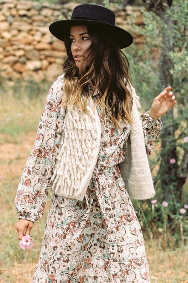 Maxi Dress Autumn Paradise - Cream