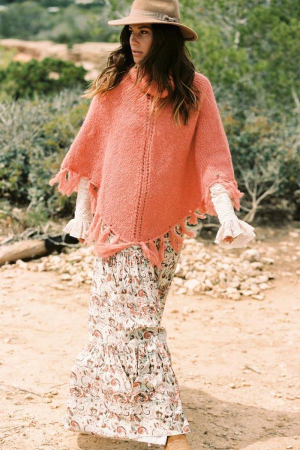 Maxi Skirt Autumn Paradise - Cream