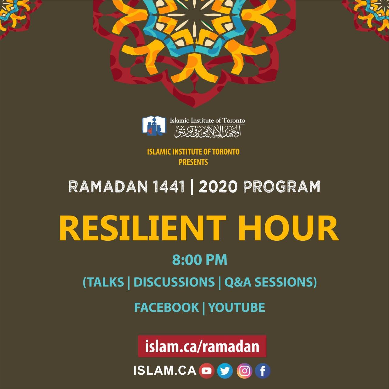 resilient hour at 8 pm