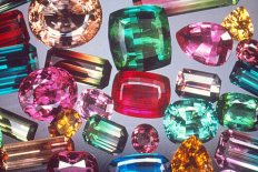 Mixed tourmaline gems