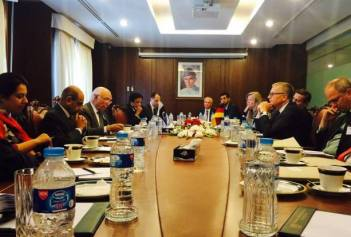 German business delegation headed by Deputy Minister of the Federal Foreign Office, Mr. Steinlein, held meeting with Sartaj Aziz and other officials in Islamabad