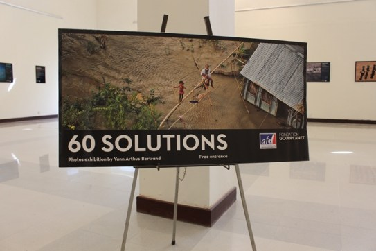 "French, German and EU diplomats hosted a photography exhibition ""60 SOLUTIONS against climate change"" in Islamabad. Photo: Sana Jamal"