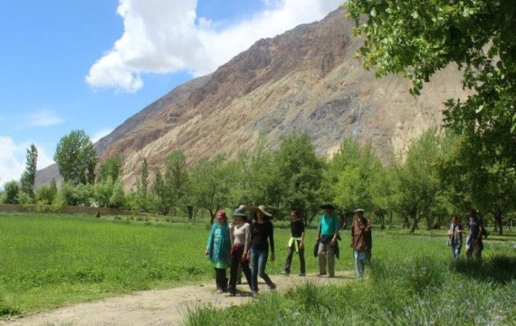 Walking in Mastuj town in Chitral, Pakistan