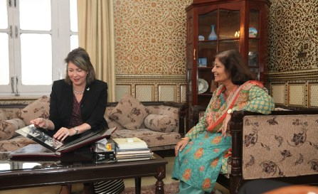 FJWU Vice Chancellor Dr. Samina Qadir and U.S. Embassy Islamabad Counselor for Public Affairs Christina Tomlinson inaugurated Susan B. Anthony Reading Room in Rawalpindi