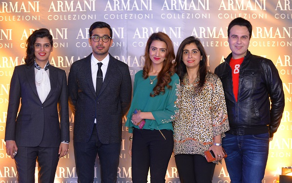 Mariam, Zain, Aneela, Arifa and Rezz at the launch of Armani Collezioni Store in Islamabad