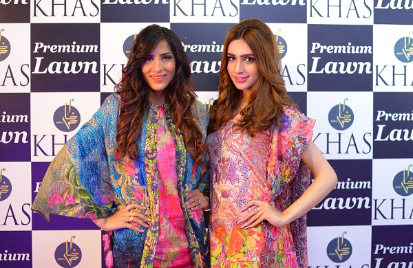 Models attired in Khas Premium Lawn 2016 at the launch event in Islamabad.
