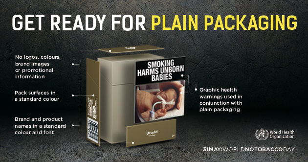 Plain packaging for all smoked and smokeless tobacco products