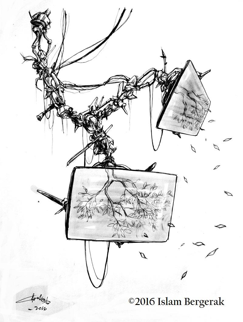 Ilustrasi Puisi Tanah Impian Tanah Kesadaran oleh Arut S. Batan