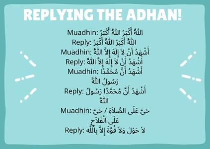 replying adhan