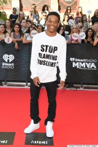 Respect for John River for making a Statement With 'Stop Blaming Muslims' Shirt On Red Carpet