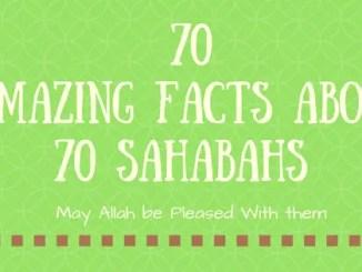 70 amazing sahaba