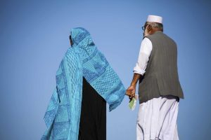 old muslim couple