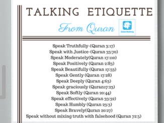 Speech Etiquette Quran