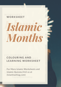 Islamic Months worksheet