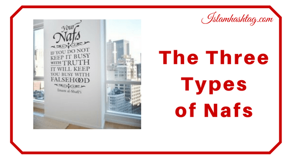 The 3 types of Nafs People have .