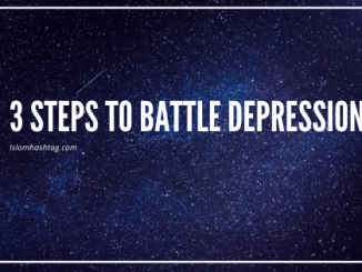 3 Steps to battle depression