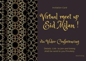 Virtual Eid Milan greeting