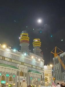 moon over kaaba