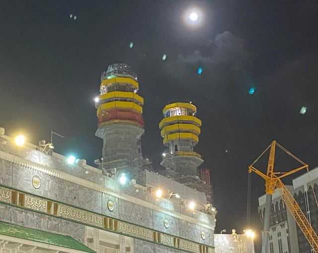 moon over kaaba