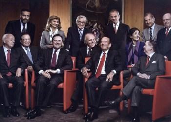 Foto titulada ´Retrato de poder`, por Sofía Moro. Dirigentes del Banco Santander