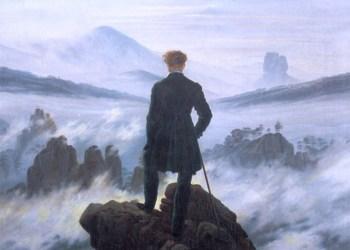 El caminante sobre el mar de nubes, de Caspar David Friedrich.