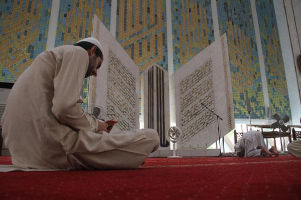 ILUSTRASI-Itikaf di bulan Ramadhan