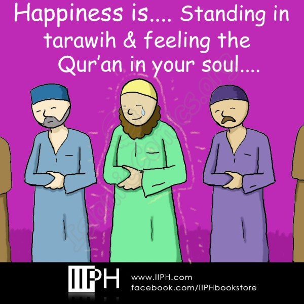 Happiness is standing in Tawarih and feeling Quran in your soul - Islamic Illustrations (Islamic Comics)