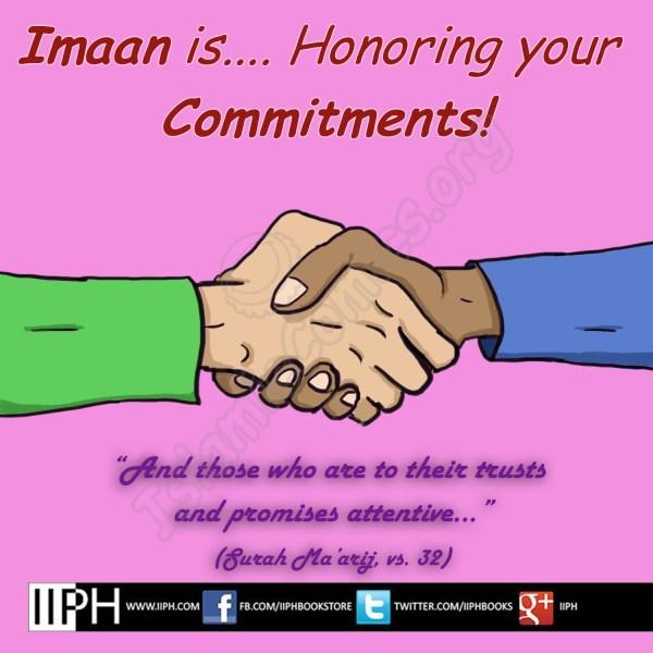 Imaan is Honoring Commitments - Islamic Illustrations (Islamic Comics)